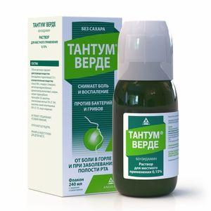 Тантум Верде, 0.15%, раствор для местного применения, 240 мл, 1шт.