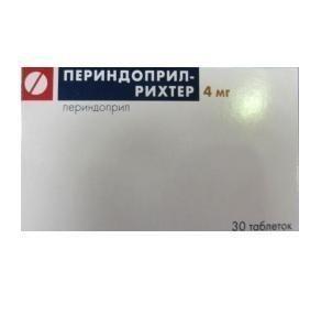 Периндоприл-Рихтер, 4 мг, таблетки, 30шт.