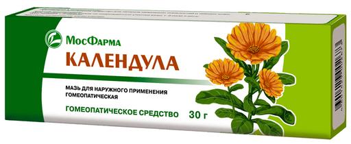 Календула (мазь гомеопатическая), мазь для наружного применения гомеопатическая, 30 г, 1шт.