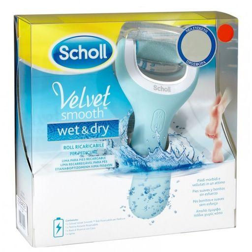 Scholl Velvet Smooth Wet&Dry электрическая роликовая водонепроницаемая пилка, 1шт.