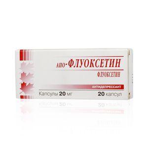 Апо-Флуоксетин, 20 мг, капсулы, 20шт.