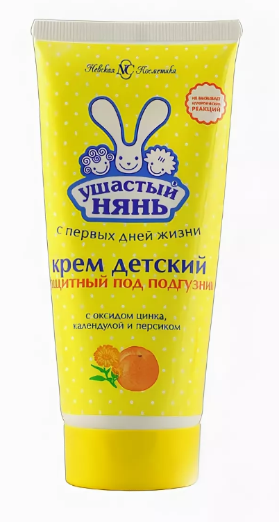 Ушастый Нянь Крем детский защитный под подгузник, крем для детей, 100 мл, 1шт.