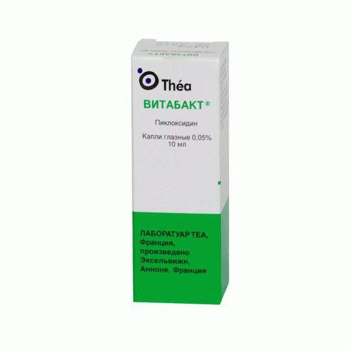 Витабакт, 0.05%, капли глазные, 10 мл, 1шт.