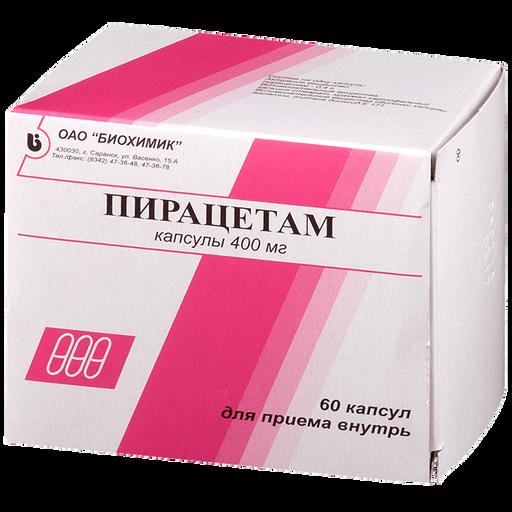 Пирацетам, 400 мг, капсулы, 60шт.