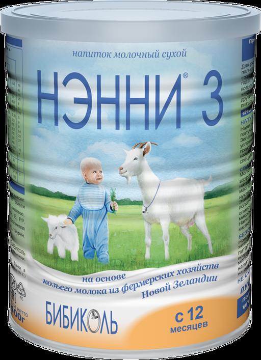 Нэнни 3, для детей с 12 месяцев, напиток молочный сухой, 400 г, 1шт.