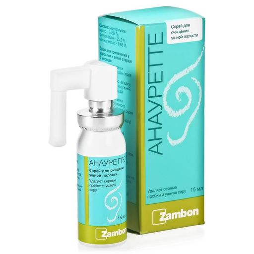 Анауретте Спрей для очищения ушной полости, спрей для местного применения, 15 мл, 1шт.