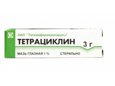 Тетрациклин (глазная мазь), 1%, мазь глазная, 3 г, 1шт.