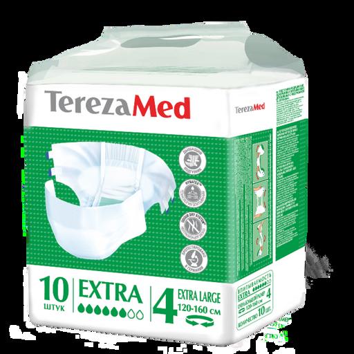 TerezaMed Extra подгузники для взрослых дневные, Extra Large XL (4), 120-160 см, 10шт.