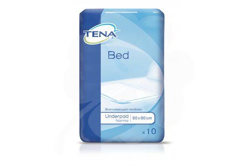 Пеленки впитывающие (простыни) TENA Bed Underpad, 90 смx60 см, Normal (2 капли), 10шт.