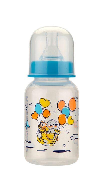 Курносики бутылочка с силиконовой соской 0+, 125 мл, арт. 11142, с рисунком, в ассортименте, с силиконовой соской, 1шт.