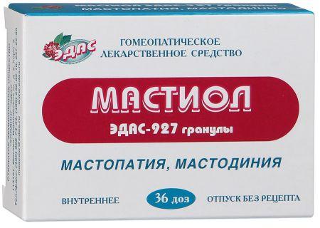 Эдас-927 Мастиол, 0.17 г/доза, гранулы гомеопатические, 6 г, 36шт.