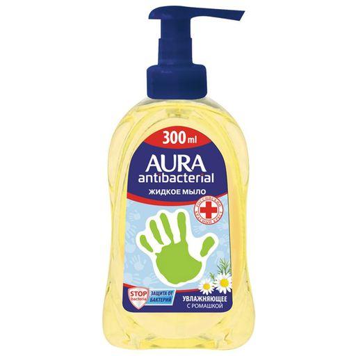 Aura мыло жидкое антибактериальное Ромашка, мыло жидкое, 300 мл, 1шт.