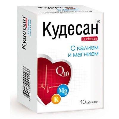 Кудесан с калием и магнием, 1000 мг, таблетки, 40шт.