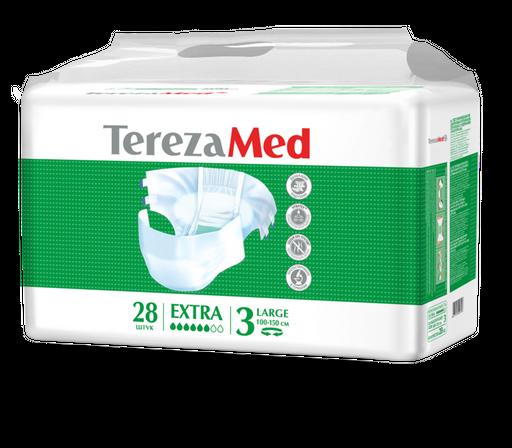 TerezaMed Extra подгузники для взрослых дневные, Large L (3), 100-150 см, 28шт.