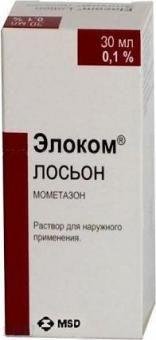 Элоком Лосьон, 0.1%, раствор для наружного применения, 30 мл, 1шт.