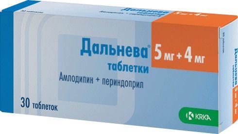 Дальнева, 5 мг+4 мг, таблетки, 30шт.