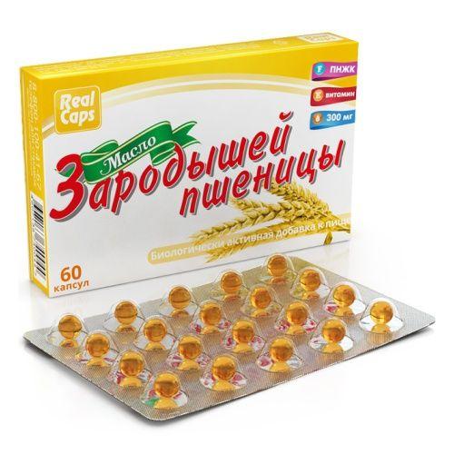 RealCaps Масло зародышей пшеницы, 300 мг, капсулы, 60шт.