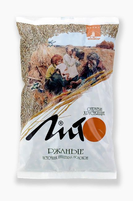 Отруби хрустящие с кальцием Лито ржаные, гранулы, с кальцием, 200 гр., 1шт.