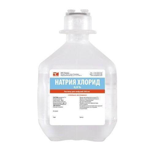 Натрия хлорид СОЛОфарм, 0.9%, раствор для инфузий, 200 мл, 1шт.