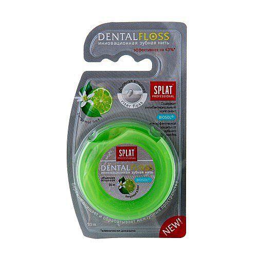 Splat Professional Зубная нить, 30м, нити зубные, с ароматом бергамота и лайма, 1шт.
