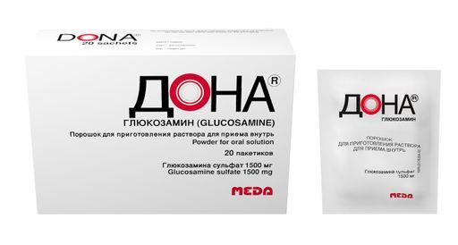 Дона, 1.5 г, порошок для приготовления раствора для приема внутрь, 20шт.