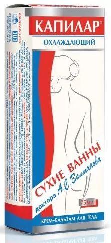 Капилар крем-бальзам для тела, крем для тела, охлаждающий, 75 г, 1шт.