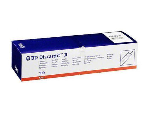 Шприц BD DISCARDIT II 5мл, 5 мл (22 G 0.7 х 40 мм), 100шт.