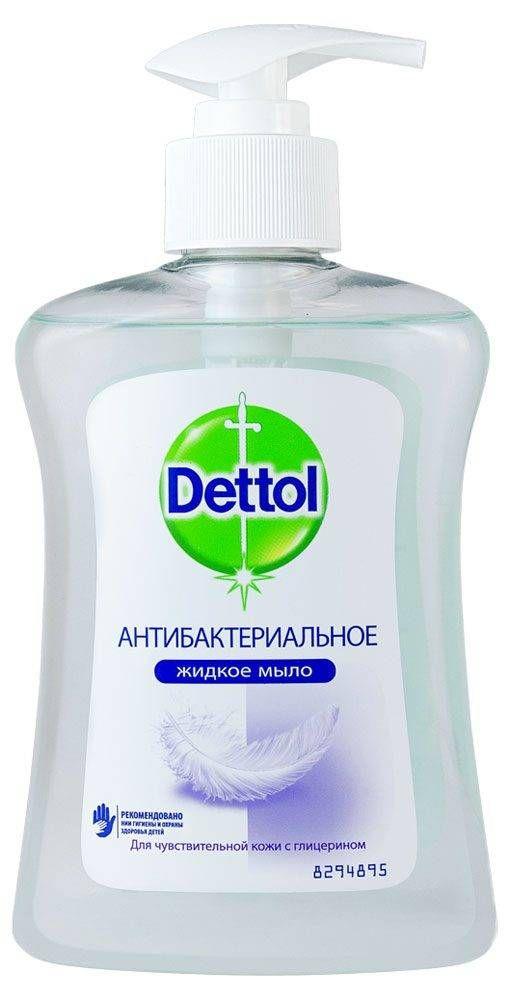 Dettol Мыло жидкое для рук Антибактериальное с глицерином, мыло жидкое, для чувствительной кожи, 250 мл, 1шт.