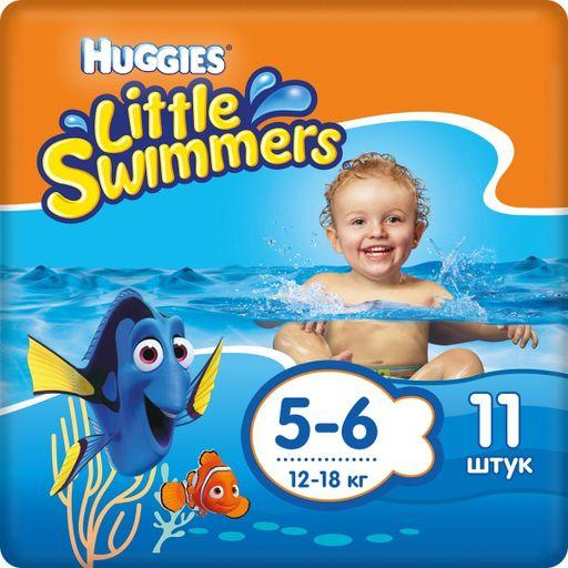 Huggies Подгузники-трусики для плавания, р. 5-6, 12-18 кг, 11шт.