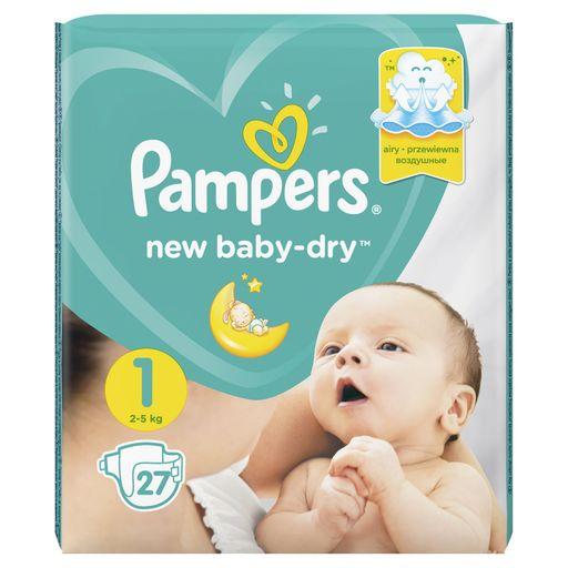 Pampers New baby-dry Подгузники детские, р. 1, 2-5кг, 27шт.