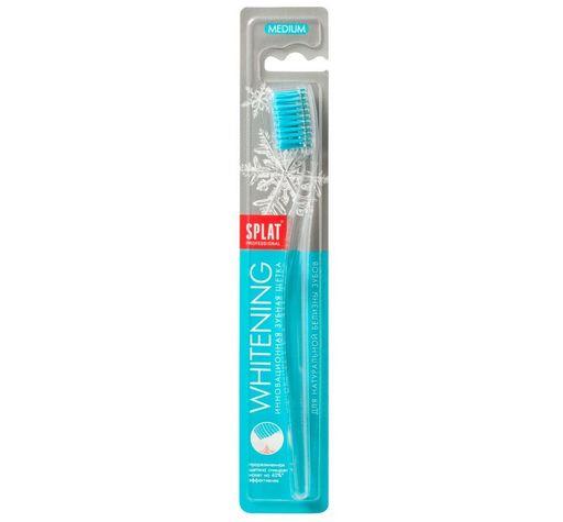 Splat Whitening Зубная щетка отбеливающая, щетка зубная, medium, 1шт.