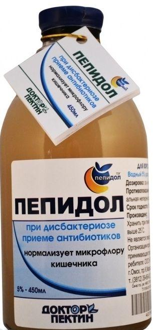 Пепидол Пэг, 5%, раствор водный, 450 мл, 1шт.