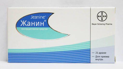 Жанин, 0.03 мг+2 мг, таблетки, покрытые оболочкой, 21шт.