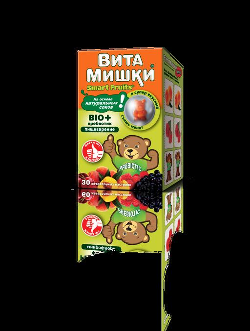 ВитаМишки BIO + пребиотик, пастилки жевательные, ассорти, 30шт.