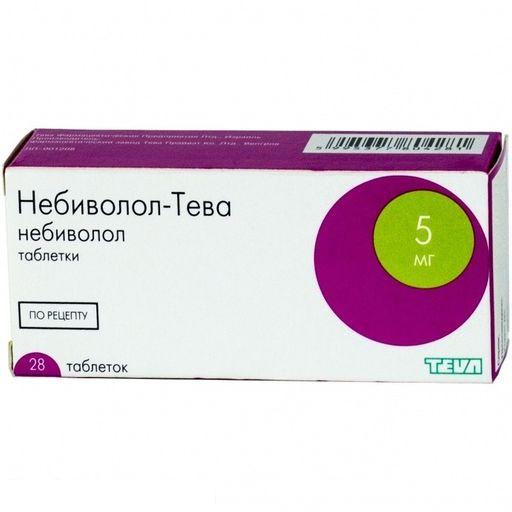 Небиволол-Тева, 5 мг, таблетки, 28шт.
