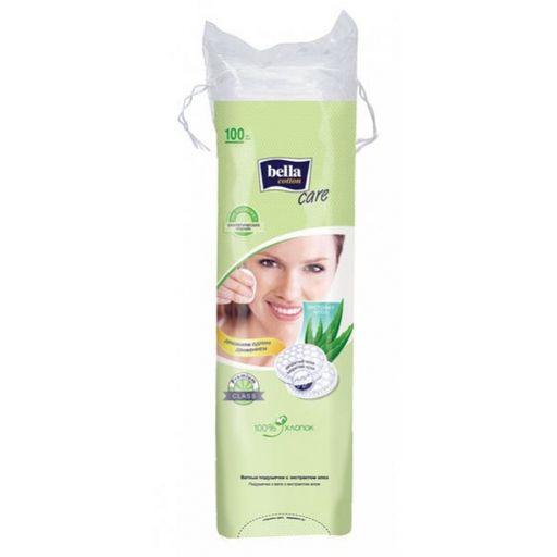 Bella Cotton Care Ватные подушечки с экстрактом алоэ, 100шт.