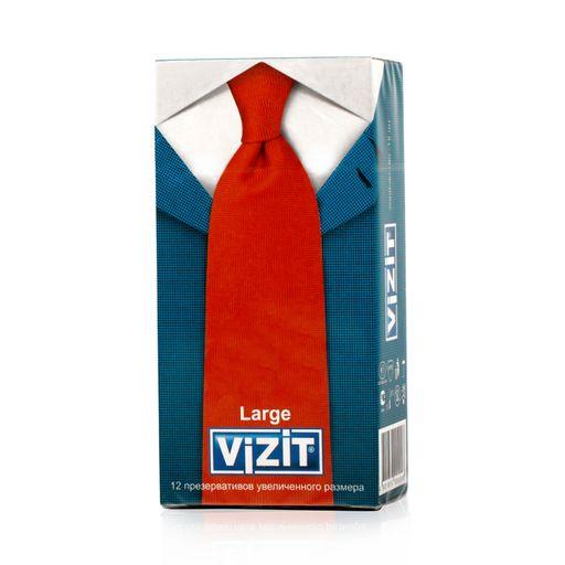 Презервативы Vizit Large, презерватив, увеличенного размера, 12шт.
