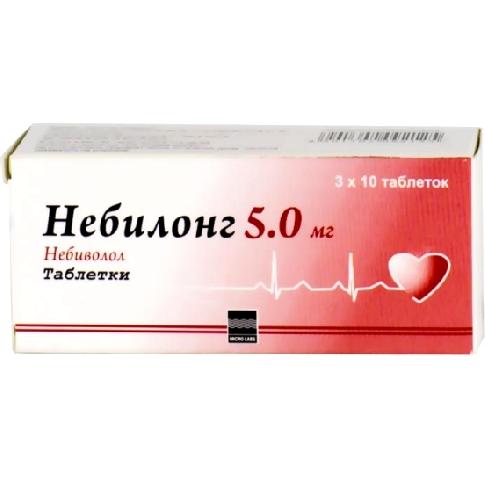 Небилонг, 5 мг, таблетки, 50шт.