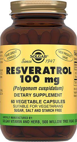 Solgar Ресвератрол 100 мг, 100 мг, капсулы, 60шт.