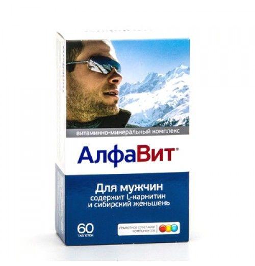 Алфавит Для мужчин, таблетки в комплекте, 60шт.