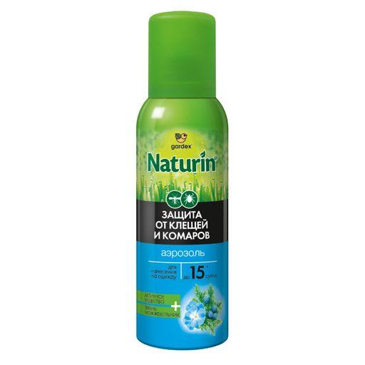 Gardex naturin Аэрозоль на одежду от комаров и клещей, аэрозоль, 100 мл, 1шт.
