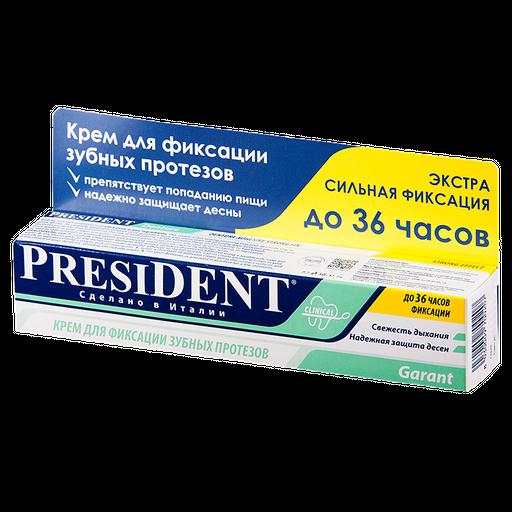 PresiDent Garant крем для фиксации зубных протезов, крем для фиксации зубных протезов, с мятным вкусом, 20 г, 1шт.