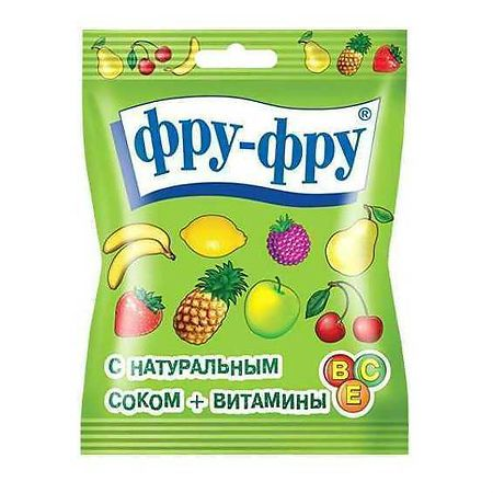 Фру-Фру мармелад Азбука, мармелад жевательный, с фруктовым соком, 30 г, 1шт.