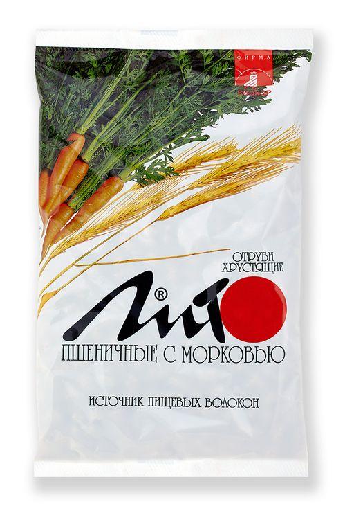 Отруби пшеничные хрустящие Лито с кальцием и морковью, гранулы, 200 г, 1шт.