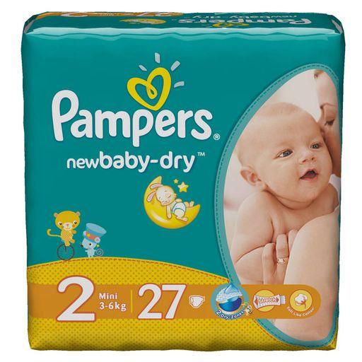 Pampers New baby-dry Подгузники детские, р. 2, 3-6кг, 27шт.