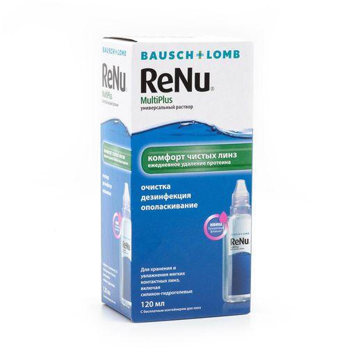 ReNu Multi Plus, раствор для обработки и хранения мягких контактных линз, 120 мл, 1шт.
