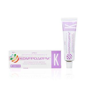 Комфодерм K, 0.1%, крем для наружного применения, 30 г, 1шт.