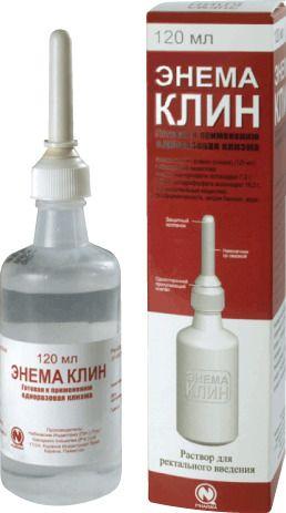 Энема Клин, раствор для ректального введения, 120 мл, 1шт.