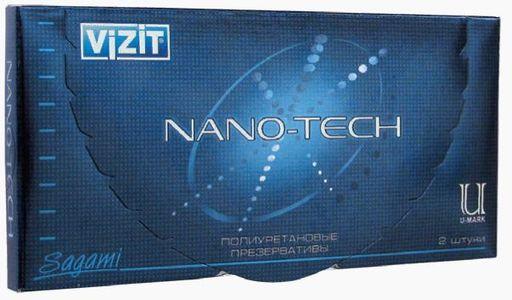 Презервативы Vizit Nano-tech полиуретановые, презерватив, ультратонкие, 2шт.