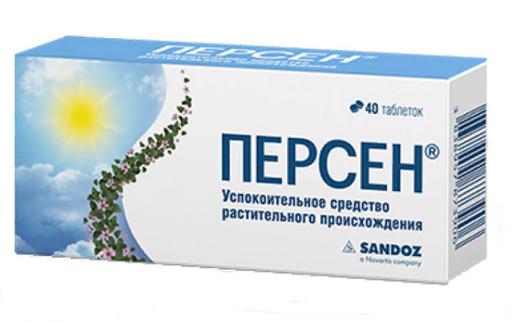 Персен, таблетки, покрытые оболочкой, 40шт.